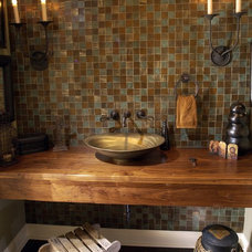 mediterranean bathroom countertops by Artisan Group Stone and Wood Countertops