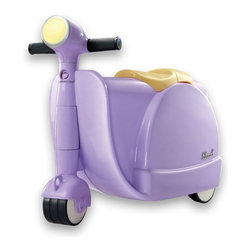 Diggin Active - Diggin Active Skootcase Riding Push Toy - Purple - 5516320 - Shop for Tricycles and Riding Toys from Hayneedle.com! Don't just drag your traveler through the airport - make 'em scoot with the Diggin Active Purple Skootcase. Ideal for helping little ones navigate big airports this innovative toy combines an Italian-inspired motorcycle design with all the interior space of a traditional suitcase. The fully functional steering and sturdy rubber wheels make navigation easy on any surface - indoors or out. When it's time to board the plane the sturdy tow straps makes it easy for you to carry and the case is specially designed to fit in a plane's overhead bin. Now that's clear skies. Recommended for ages three and up. About Diggin Active Inc.Established in 2006 Diggin Active was founded by Nathan Keker Jenny Stern and Phil Neal all veterans of the toy industry. Combining more than 30 years of in the field the trio created a line of sports toys with one goal in mind - bringing the joy of sports to kids. Their products focus on taking the fear and frustration out of learning sports through top-quality design and performance so kids can develop an enduring passion for sports and an active lifestyle.