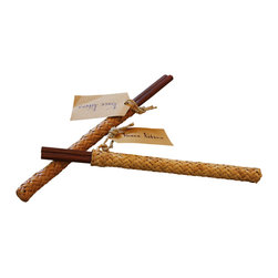 Vance Kitira - Chop Sticks - Solid wood chopsticks nestled in rattan case.  Perfect hostess gift or personal use.  Set / 2 Pair
