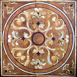 Square Stone Medallion - Marble Mosaics and Medallion Designs