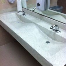 Contemporary Bathroom by Living Stone Concrete Countertops