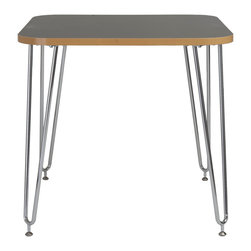 Eurostyle - Euro Style Hanh Collection Activity Table in Gray/Chrome - Activity Table in Gray/Chrome in the Hanh Collection by Eurostyle