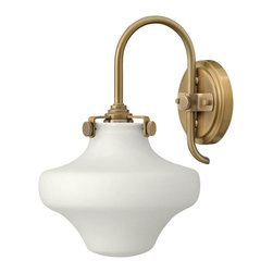 Hinkley - Hinkley Congress 1-Light Brushed Caramel Wall Light - 3175BC - This 1-Light Wall Light is part of the Congress collection and has a Brushed Caramel finish. It is dry rated.