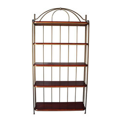 Metal & Wood Bookshelf from Sunrise Home - $1,200 Est. Retail - $425 on Chairish -