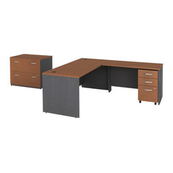 "Bush - Bush Series C 4-Piece L-Shape Computer Desk in Auburn Maple - Bush - Office Sets - WC48536PKG4 - Bush Series C 48"" Return Bridge in Auburn Maple (included quantity: 1) The Bush Series C Return Bridge offers you a refined approach to expanding your workspace. This fine return bridge merges beautifully with any Bush Series C Desk and other Series C furniture to contribute to a powerful total package.  Features:"
