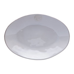 Casafina - Large Oval Platter, White - Secondary images are for color reference.