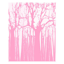 Murals Your Way - Trees - Soft Pink Wall Art - Painted by Estela Lugo, the Trees - Soft Pink wall mural from Murals Your Way will add a distinctive touch to any room