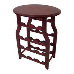 Proman Products - Proman Products Apachi Wine Rack in Mahogany - Apachi wine rack. Mahogany finish
