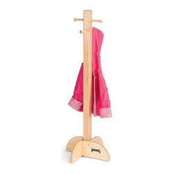 Jonti-Craft Youngsters Woooden Standing Coat Rack - The child-sized Youngster's Coat Rack is a great way to hang your child's coats sweaters hats and school bags. This handy standing coat rack features four sets of double metal hooks on a durable maple pole. Sturdily constructed this coat rack has a safe rectangular base and uses lead-free non-toxic paints. Keep your child's room tidy with the Youngster's Coat Rack. Order yours now. About Jonti-CraftFamily-owned and operated out of Wabasso Minn. Jonti-Craft is a leading provider of quality furniture for the early learning market. They offer a wide selection of creatively designed products in both wood and laminate materials. Their products are packed with features that make them safe functional and affordable. Jonti-Craft products are built using the strongest construction techniques available to ensure that your furniture purchase will last a lifetime.