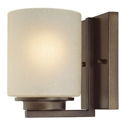 Dolan Designs Lighting - Single-Light Wall Sconce - 2886-62 - The backplate measures 6-1/2-inches in width by 4-1/2-inches in width. Takes (1) 100-watt incandescent A19 bulb(s). Bulb(s) sold separately. UL listed. Dry location rated.