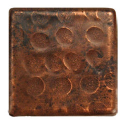 "Premier Copper Products - 2"" x 2"" Hammered Copper Tile - 2"" x 2"" Hammered Copper Tile"