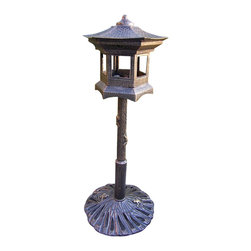 Oakland Living - Oakland Living Lantern Bird House in Antique Bronze - Oakland Living - Bird Baths Bird Feeders and Bird Houses - 5025AB - About This Product: