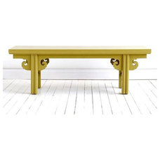 asian dining benches by Cottage & Bungalow