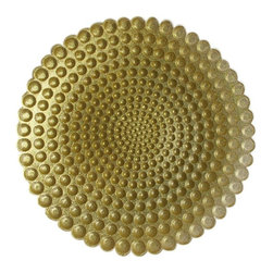 Jay Companies - Gold Pearl Glass Charger - Gold Pearl Glass Charger