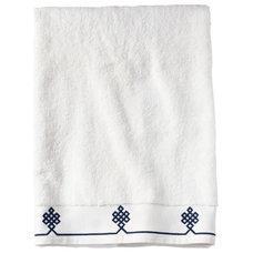 Traditional Bath Towels Navy Gobi Bath Towel