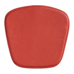Zuo Modern - Chair Cushion in Red - Soft leatherette seat. Fits the Zuo mesh and wire chair. 18 in. W x 18 in D x 0.5 inches - 8oz Wt