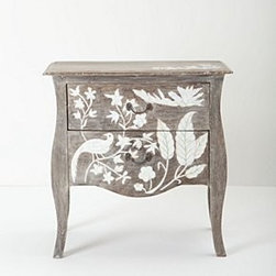 """Anthropologie - Epoque Bureau - Mango wood, mother of pearl, fiberboardWipe with dry cloth31""""H, 30""""WImported"""