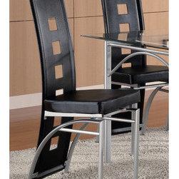 Los Feliz Upholstered Metal Dining Chair (Set of 2) -