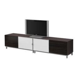 IKEA of Sweden - BESTÅ Storage combination - Storage combination, black-brown, high gloss brown