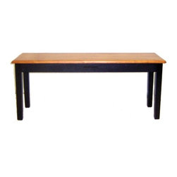 Boraam - Boraam Shaker Bench in Black/Oak - Bench in Black/Oak in the Shaker Collection by Boraam A sturdy bench with a versatile appearance and rich color finish is exactly what the Shaker bench embodies. This bench is the perfect size to use as additional dining seating or as a place to sit in an entryway, mudroom, & more. The use of precision construction and solid hardwood materialize a durable bench that you can rely on. Additional stability provided through the strategically designed shaker legs give you secure and grounded balance. The cozy appearance will undoubtedly boost the ambience of any room in your home. The bench's enchanting black-oak color finish and traditional style makes it easy to pair with anyone's interior decor taste. If you are looking to update your dining area, we recommend completing the Shaker look and creating a six piece set by pairing this Bench with the Shaker chairs & Shaker table in a perfect-match color finish!