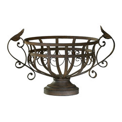 Cyan Design - Cyan Design Iron Fruit Basket X-28720 - The chalice-like frame of this Cyan Design fruit basket helps to give it a refined air of Old World elegance. This iron fruit basket features curled arms as well as simple scrolling accents throughout. It comes finished in a beautiful Aged Rust.