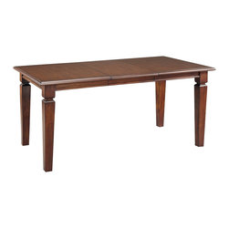 Home Styles - Home Styles Aspen Rectangular Dining Table Finished in Rustic Cherry - Home Styles - Dining Tables - 552031 - Create ambiance with a perfect balance of warmth and style with The Aspen Collection Rectangular Dining Table by Home Styles.