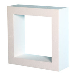 CustomEPS.com - WS103 Large Square Shelf - Sometimes a recess niche just doesnt work. Our White Matter shelves can be installed on any wall, in any location, and come in over 50 designs! Easily trimmed to your exact dimension, or combined with each other to create your own design. Nothing on the market is more versatile or economical.