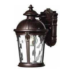 Hinkley - Hinkley Windsor One Light River Rock Wall Lantern - 1890RK - This One Light Wall Lantern is part of the Windsor Collection and has a River Rock Finish. It is Outdoor Capable, and Wet Rated.