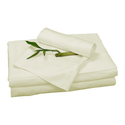 BedVoyage - Sheet Set, Ivory, Full - BedVoyage Bamboo Bed Sheets are made from 100% bamboo viscose, are subtly cool and extremely breathable, with a feel softer to the touch than a 1,000 thread-count Pima cotton. The linens will not pill nor fade. Bamboo is an easy care and durable fiber, and those with sensitive skin will benefit from the round bamboo fibers which are extremely smooth against the skin. Sheet sets include a deep-pocket fitted sheet, a flat sheet, and two pillowcases (1 for Twin size).