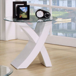 "Acme Furniture - End Table in White - End Table in White; Finish: White; Dimensions: 24""X24""X22""H"