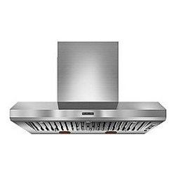 """48"""" Wall-Mount Range Hood - A seamless look for your kitchen - Hidden, 3-speed control system makes it easy to select fan speed and operate lights without detracting from the overall design. From Kitchenaid."""