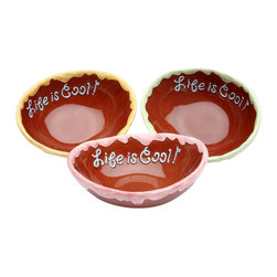 "ATD - Set of 3 ""Life is Cool"" Red Collectible Ice Cream Bowls, 5 inch - This gorgeous Set of 3 ""Life is Cool"" Red Collectible Ice Cream Bowls, 5 inch has the finest details and highest quality you will find anywhere! Set of 3 ""Life is Cool"" Red Collectible Ice Cream Bowls, 5 inch is truly remarkable."