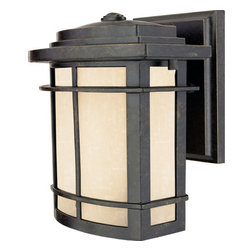 Quoizel - Quoizel GLN8407 1 Light 100 Watt Small Outdoor Wall Fixture from the Galen Colle - 1 Light 100 Watt Small Outdoor Wall Fixture from the Galen CollectionA design made for classic Arts & Crafts style homes, but looks great on contemporary or modern homes as well. The finish will coordinate well and the glass provides the perfect light source for your outdoor d�cor. This collection, with its classic elements, will bring understated flair to any home.Features: