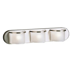 """Kichler - Kichler 6090NI 3 Light 24"""" Wide Bathroom Fixture from the Wall Sconce Collection - *Wall Sconce Collection: Art Deco Wall Sconce3-LightArt Deco / Retro ThemedSatin-Etched GlassDimensions:24 Inches Wide4.50 Inches High5 Inches Extended from Wall"""