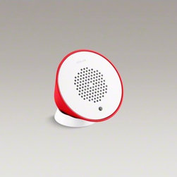 KOHLER - KOHLER Moxie(R) wireless speaker - The Moxie showerhead holds a portable wireless speaker that pairs wirelessly with Bluetooth-enabled devices to deliver high-quality audio to your shower. The speaker docks directly into the showerhead, so your music is closer than ever when showering.
