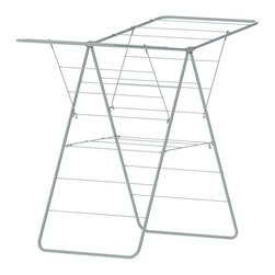Hills - Hills A Frame Airer Drying Rack Multicolor - BE4000 - Shop for Drying Racks from Hayneedle.com! Why does the structural stability of the Hills A Frame Airer Drying Rack make such a big difference? Because wet denim is no joke. This well-constructed drying rack employs the architectural stability of the A-frame to ensure that your whole load of laundry will dry evenly without ending up on the floor. With variable configurations this rack has the capacity for up to 69 feet of drying line while its compact design won't take up your whole house or yard. In fact when not in use the drying rack neatly folds up so that it can be placed out of the way against a wall. Not only does line drying your clothing give the fabric a fresh airy smell and feel but it also causes less stress on the fabric itself keeping your clothes nicer longer. And unlike drying machines line drying doesn't take any extra electrical energy creating a smaller ecological footprint and saving on costly bills at the same time.About Hills IndustriesHills Industries has been a consistent provider of quality home products since 1946 when brothers-in-law Lance Hill and Harold Ling first developed a less expensive rotary clothesline. The two men started an Australian manufacturing enterprise that destined to grow from a humble backyard operation into a multi-national company distributing a diverse range of products throughout the world.Research and development are essential components of Hills long term success. The company understands that innovation and up-to-date technology are integral in the creation of affordable reliable products for your home. Each piece is subjected to intensive testing before release to ensure that its quality is safeguarded. Operating their own research laboratories Hills is dedicated to enhancing their process and product so that consumers get the most value for their dollar.Please note this product does not ship to Pennsylvania.