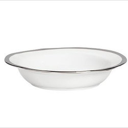 "Caroline Porcelain Cereal Bowl, Set of 4, Silver - Make a celebration even more memorable with a thoughtful gift. Handcrafted with gently uneven rims, our new Caroline Registry dinnerware has understated glamour that's just right for both formal and casual settings. We've wrapped it in a beautiful gift box so it's ready for giving on any special occasion. Dinner Plate: 11"" diameter, 1"" high Salad Plate: 8.5"" diameter, 1"" high Bowl: 9"" diameter, 2"" high; 5.5 fluid ounces Cup: 4.5"" wide x 3.5"" deep x 3"" high Saucer: 6"" diameter Made of porcelain with a glazed finish. Silver trim. Set of 4, choose dinner plate, salad plate, or cup-and-saucer set. Packaged in a beautiful PB storage box. Dishwasher-safe. Read more on our blog about the inspiration behind this product."