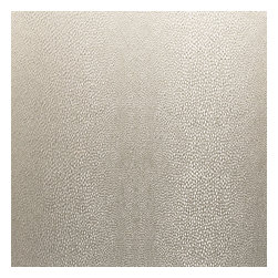 Silver Metallic Shagreen Pebble Fabric - Metallic pebbled shagreen in light silver. Adds a touch of luxury with its subtle texture & shine.Recover your chair. Upholster a wall. Create a framed piece of art. Sew your own home accent. Whatever your decorating project, Loom's gorgeous, designer fabrics by the yard are up to the challenge!