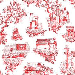 Chinatown Toile @ Flavor Paper : Tasty Handscreened and Digital Wallcoverings -