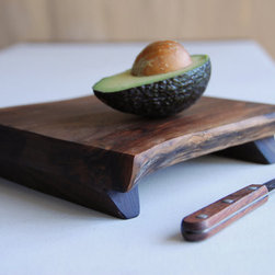 Walnut Cutting Board Rustic Wood Serving Tray By Gray Works Design - Use this gorgeous, handmade, rustic walnut cutting board as a serving platter, too.