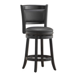 "Boraam - Boraam Augusta 24"" Counter Height Swivel Stool in Black - Boraam - Bar Stools - 45824"
