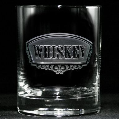 Engraved Whiskey Glasses, Barware Gifts - Personalized custom whiskey, scotch and bourbon glasses are the perfect gift for bridal shower, engagement, wedding, birthday and for the man or woman who has everything. Real estate agents and interior designers often give our personalized barware to special clients as housewarming or thank you gifts. Not engraved, but deeply sand carved, each of our glasses is hand crafted. The background is carved away, leaving the monogram and design raised from the glass in a 3D manner. Simply exquisite. Crystal Imagery