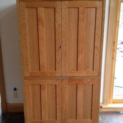"""Bedroom - Solid Cherry """"Prairie"""" Split Wardrobe. Available in solid Cherry, Walnut, Maple, Alder and Oak, in any size and configuration."""