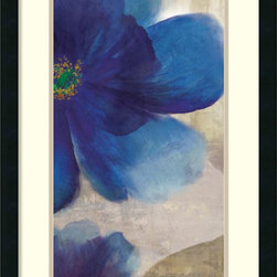 Amanti Art - Asia Jensen 'Shades of Indigo II' Framed Art Print 19 x 31-inch - This richly textured floral artwork by Asia Jensen is sure to grace any room with its charm.