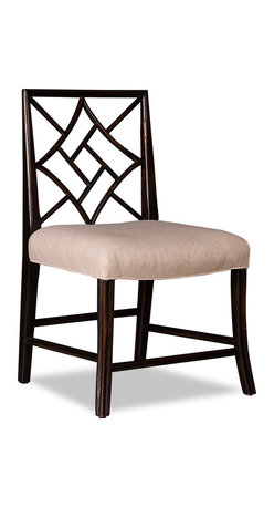Cockpen Square Chinese Chippendale Dining Chair - This Cockpen dining chair has a square back, giving it a more formal air. It's available in three finishes and would be stunning paired with a traditional mahogany dining table.