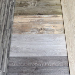 Grey and White Wash Flooring - Cool toned grey and white washed laminate flooring by simpleFLOORS
