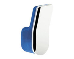 Gedy - Wall Mounted Towel or Robe Hook, Light Blue - A contemporary robe hook that is made in cromall and thermoplastic resins and finished in chrome, orange, white, lilac, black, fuchsia, light blue, anthracite, or green. Part of the Bijou collection by Gedy, this decorative towel/robe hook works well in more contemporary bathrooms. Made in Italy by Gedy.