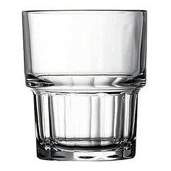 Hospitality Glass - 3H x 2.5T x 2.25B Next 5.5 oz Stacking Juice Glasses 48 Ct - Next 5.5 oz Stacking Juice