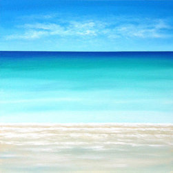 """Caribbean Sea"" (Original) By Chris Maestri - This Seascape Painting Was Done In Acrylic On Canvas In 2014."