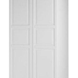 "PAX Wardrobe with 2 doors - Pax Birkeland white, white, 39 1/4x14 3/4x93 1/8 "" - - PAX Wardrobe with 2 doors, white, Birkeland"